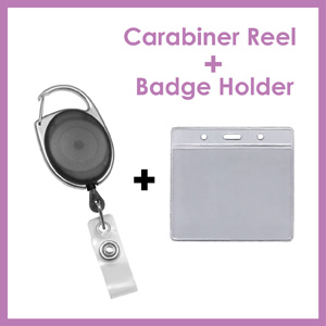 Click here to see Combo Carabiner Reel and Badge Holder