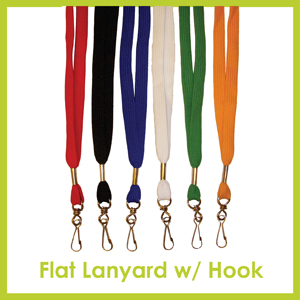 Click here to see Flat Lanyard with Hook