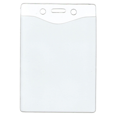 "4"" X 3"" VERTICAL CLEAR VINYL ID HOLDER"