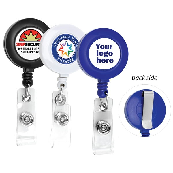 Custom Round Full Color Retractable Reel