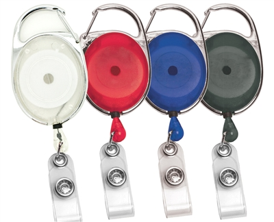 CARABINER RETRACTABLE ID BADGE REEL WITH PVC STRAP