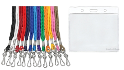 "1/4"" ROPE LANYARD & BADGE HOLDER COMBO"