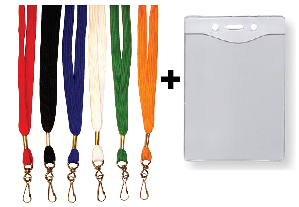 1 2 Quot Flat Lanyard Amp Badge Holder Combo
