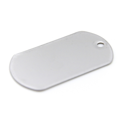 STAINLESS STEEL MILITARY DOG TAG SHINY MATTE
