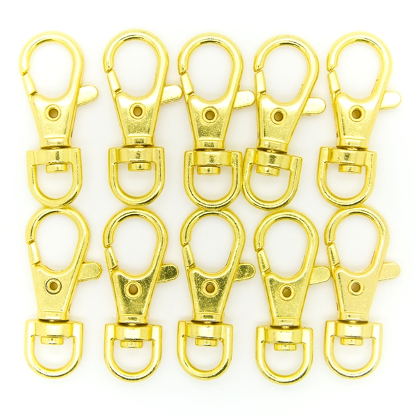 Lobster Claw Swivel Clasps Gold Plated 1.5 inch