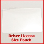 "DRIVERS LICENSE LAMINATING POUCH - 2-3/8"" x 3-5/8""  - 5mil"