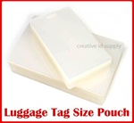 Luggage Tag Laminating Pouch w/ Slot - 5 mil