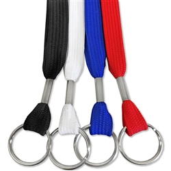 "1/2"" Flat Tubular Lanyard with Split Ring"
