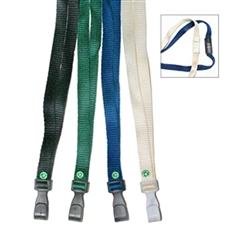 "3/8"" WIDE BIODEGRADABLE LANYARD W/ SAFETY BREAKAWAY (100% BAMBOO)"