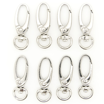 "Metal Oval Lobster Swivel Clasp 1.5"" (37mm) size - Silver"