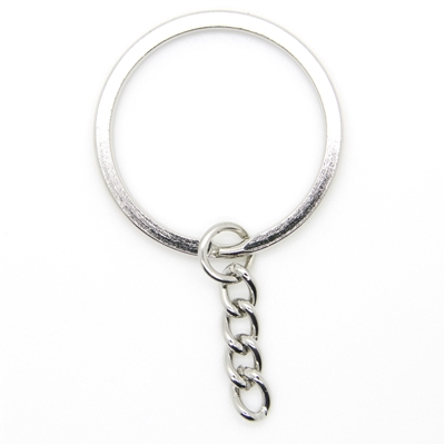 "32mm 1-1/4"" Heavy Duty Steel Key Rings Split Rings with Chain Extender"