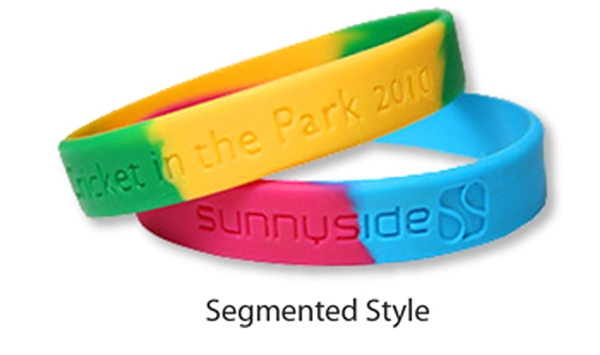 Segmented Multi-Color Wristband