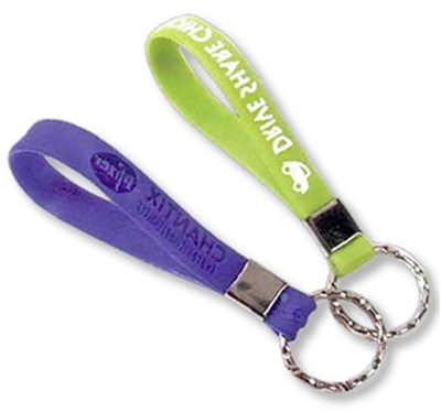 Silicone Wristband Key Chain