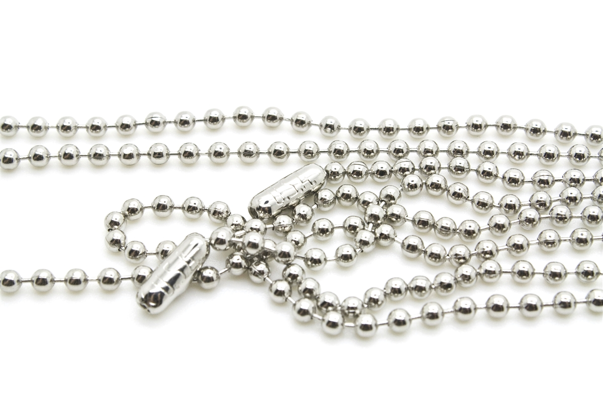 neck ball stainless necklace jewelry supplies steel inch chain